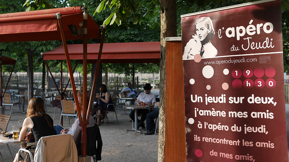 Apéro en Terrasse sur le Jardin des Tuileries au Café Diane : dolce ...