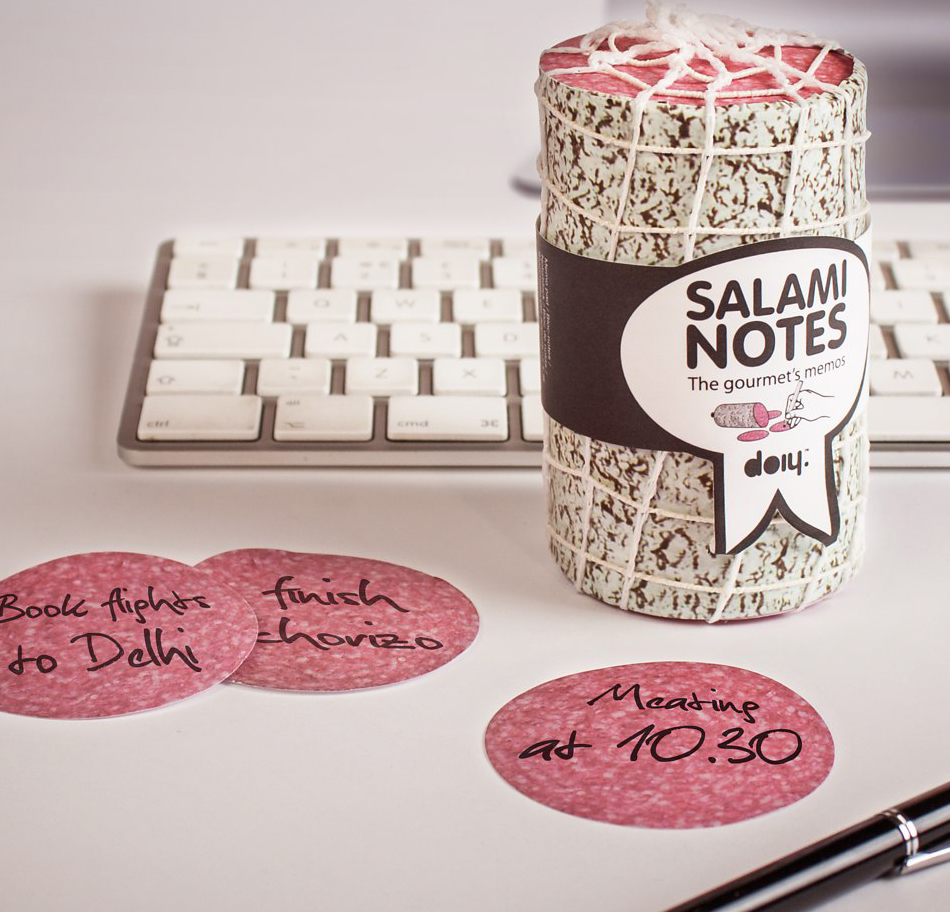 Bloc notes saucisson