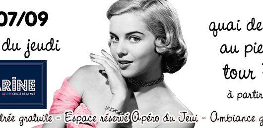 Invitation : l'Apéro du Jeudi 7 septembre au Bal de la Marine (tour Eiffel)