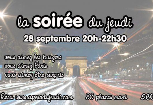 La Soirée du Jeudi : soirée mystère à Paris le 28/09