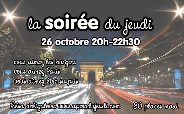 La Soirée du Jeudi : soirée mystère à Paris le 26/10