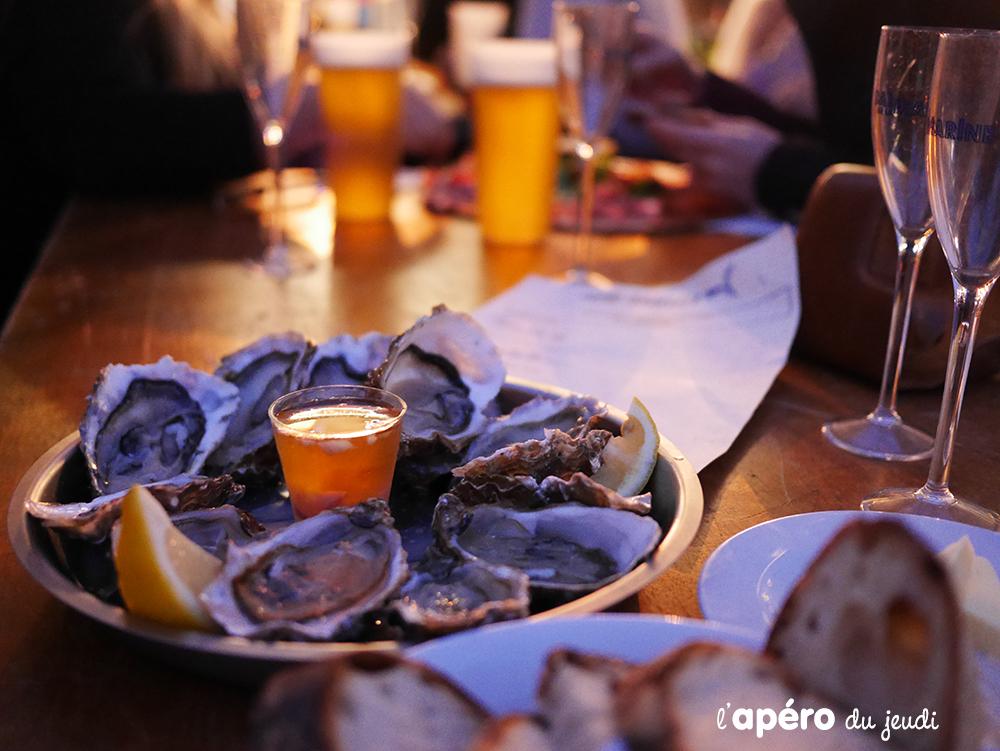 huîtres à l'apéro