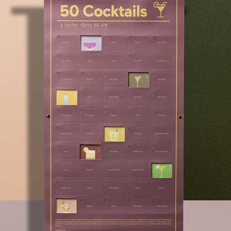 poster 50 cocktails à gouter
