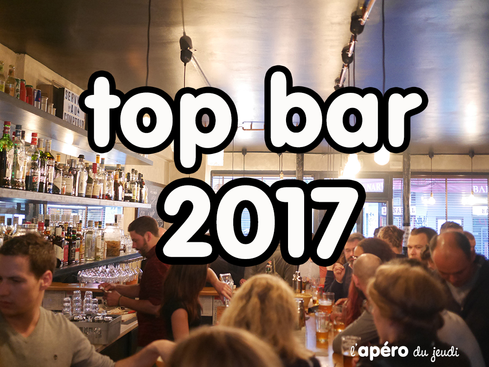 Le top bar de l'Apéro du Jeudi 2017