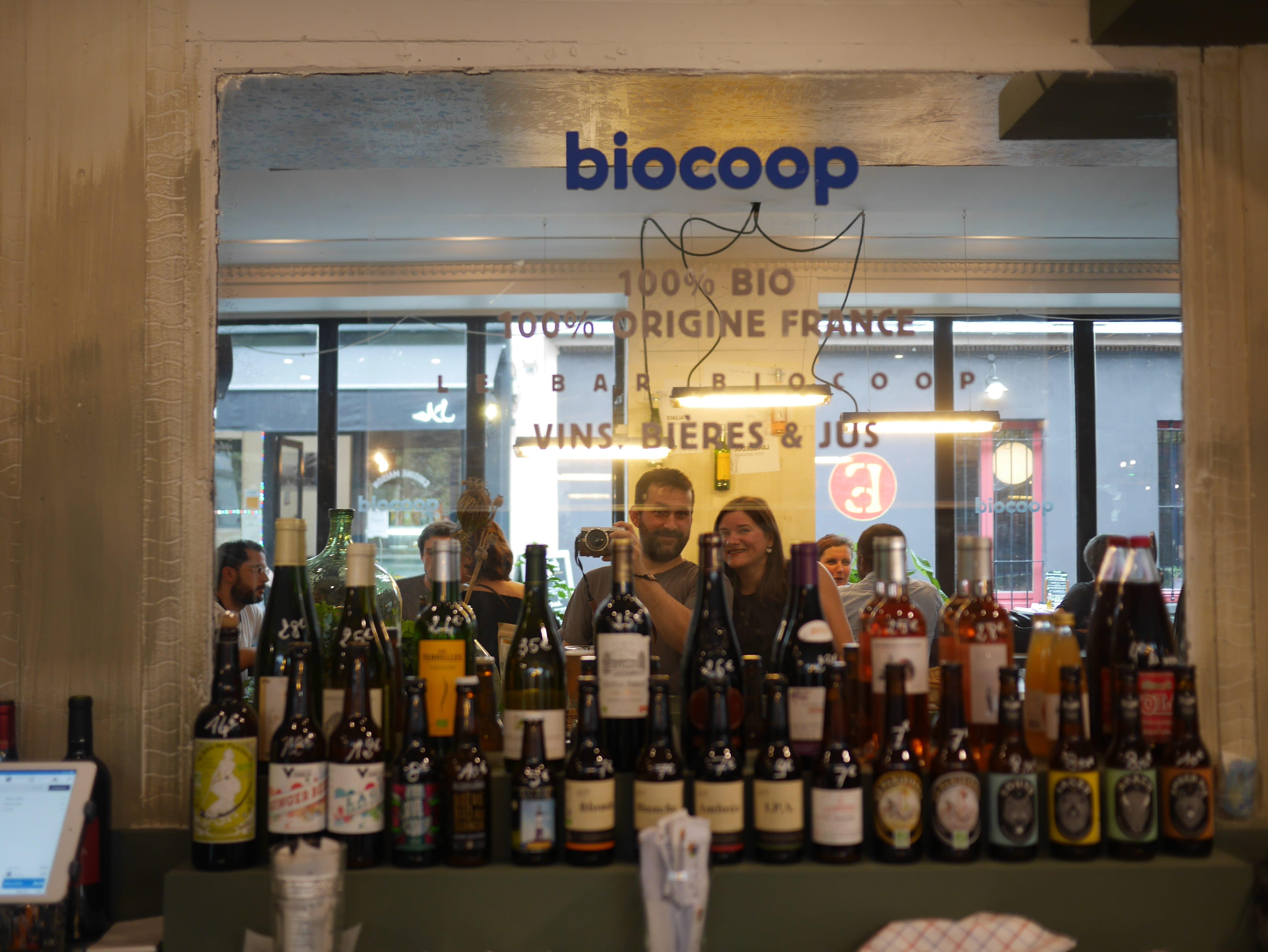 apéro bio au Plan B Biocoop