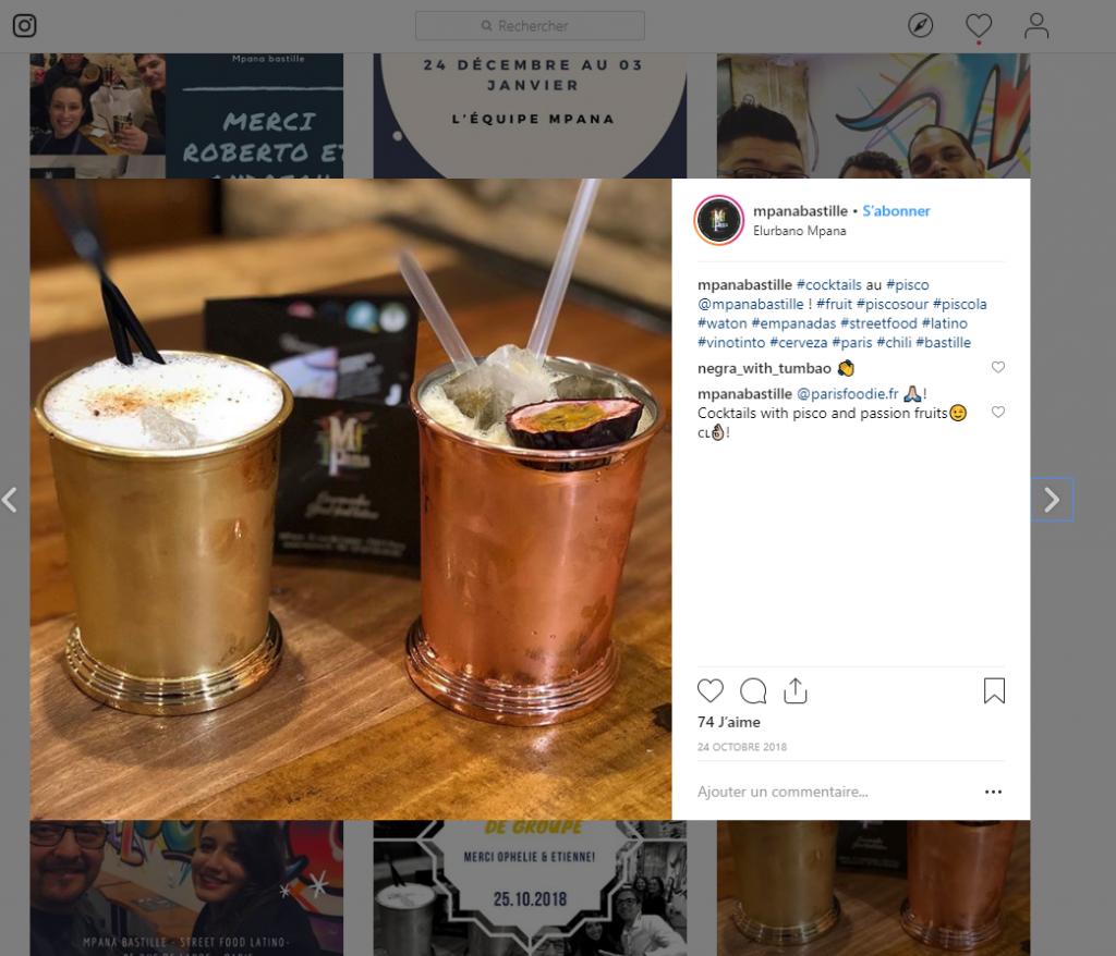 compte instagram pour bar