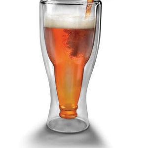 verre à biere bouteille inversée