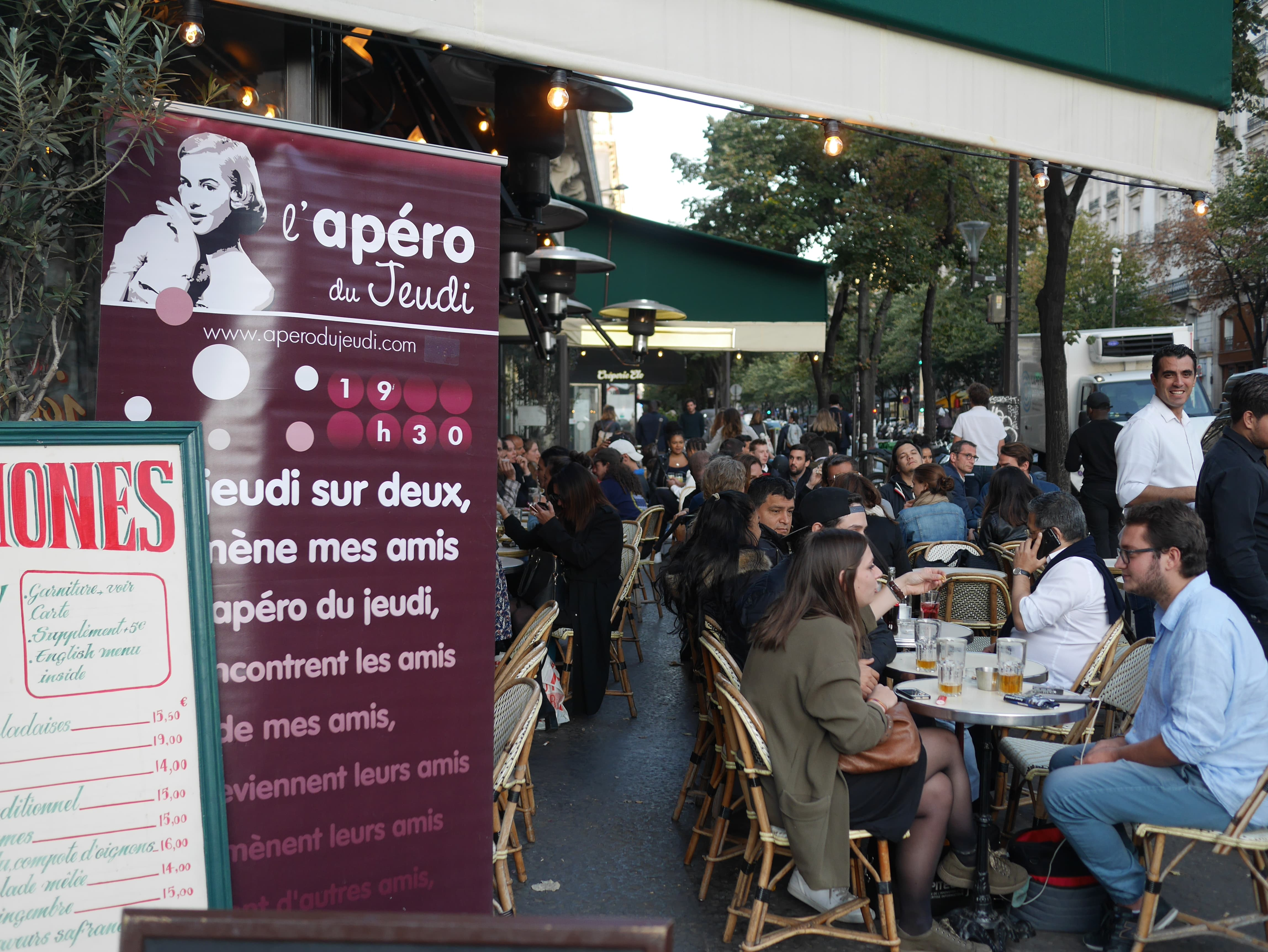 terrasse bar Anémones Paris