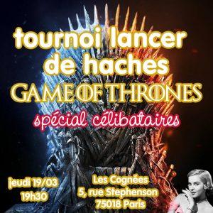 Apéro tournoi de haches Game of Thrones @ Les Cognées | Paris | Île-de-France | France