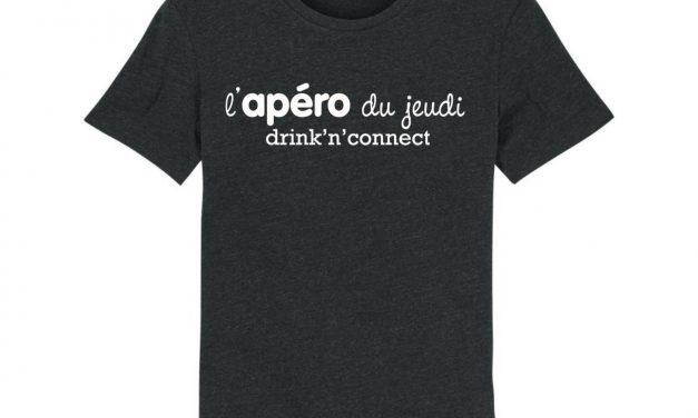Le t-shirt Drink'n' Connect par l'Apéro du Jeudi